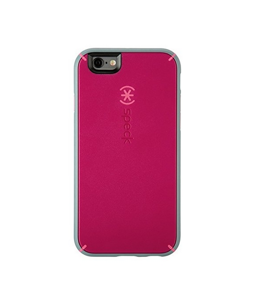 Speck Products MightyShell Case for iPhone 6 Plus 6S Plus - Fuchsia Pink Cupcake Pink Heritage Grey