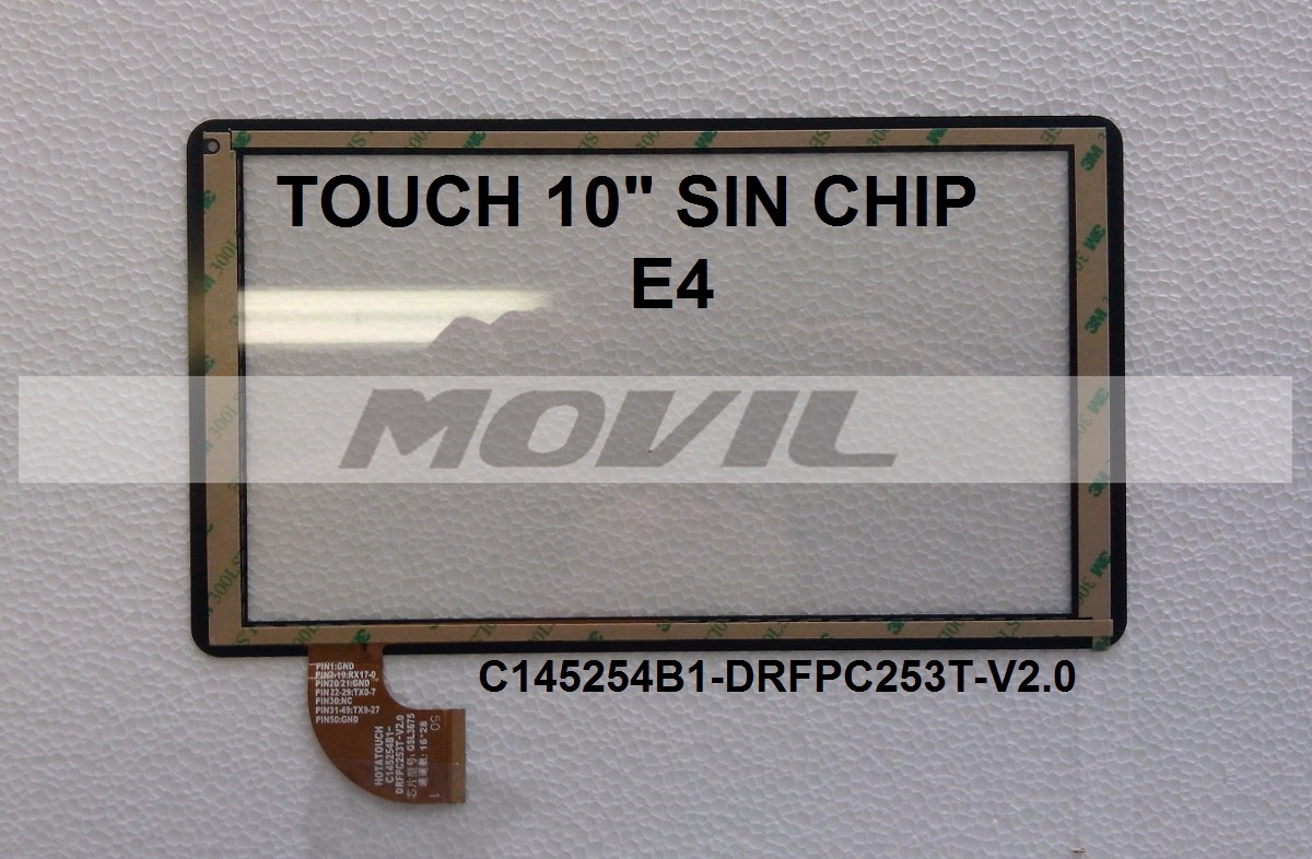 Touch tactil para tablet flex 10 inch  SIN CHIP E4 C145254B1-DRFPC253T-V2.0