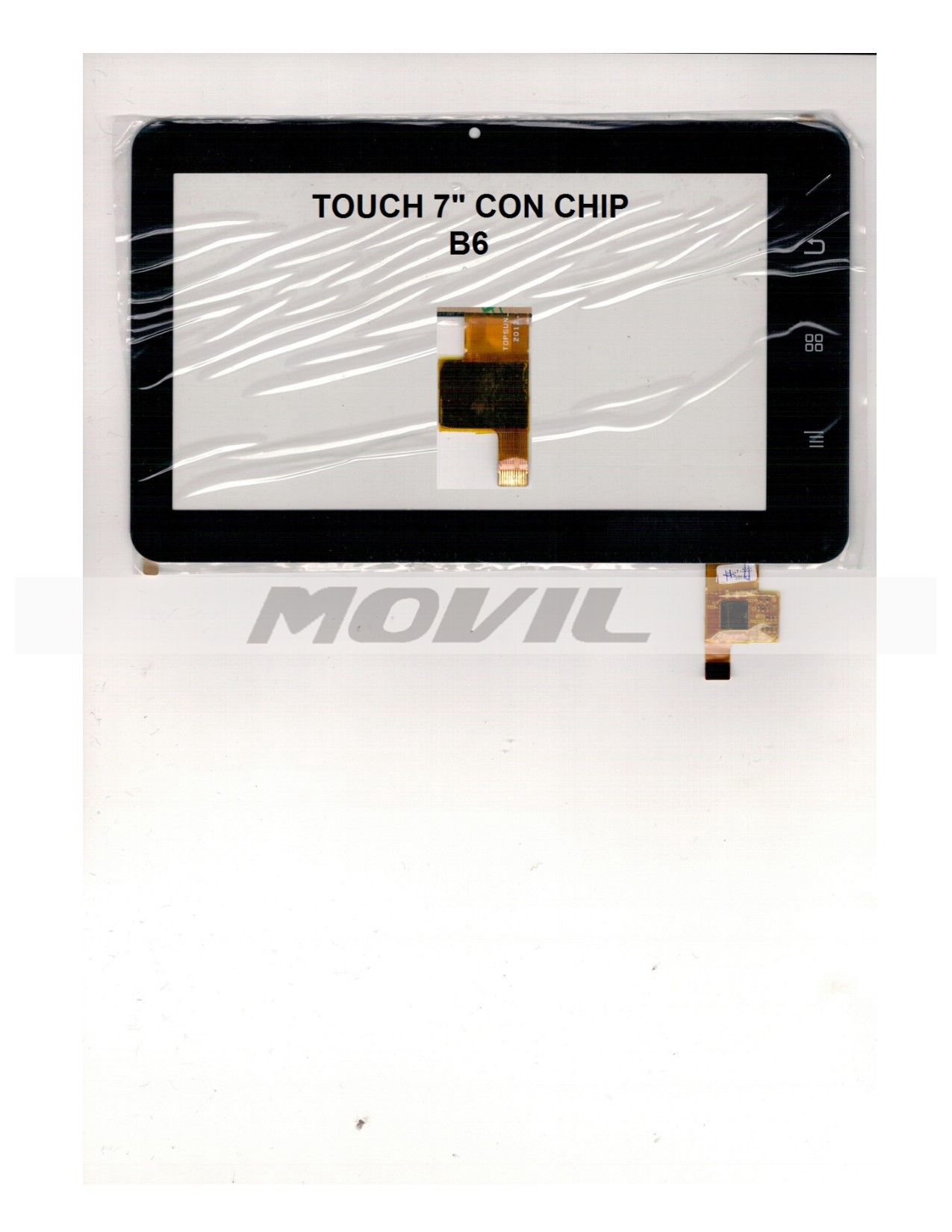 Touch tactil para tablet flex 7 inch CON CHIP B6