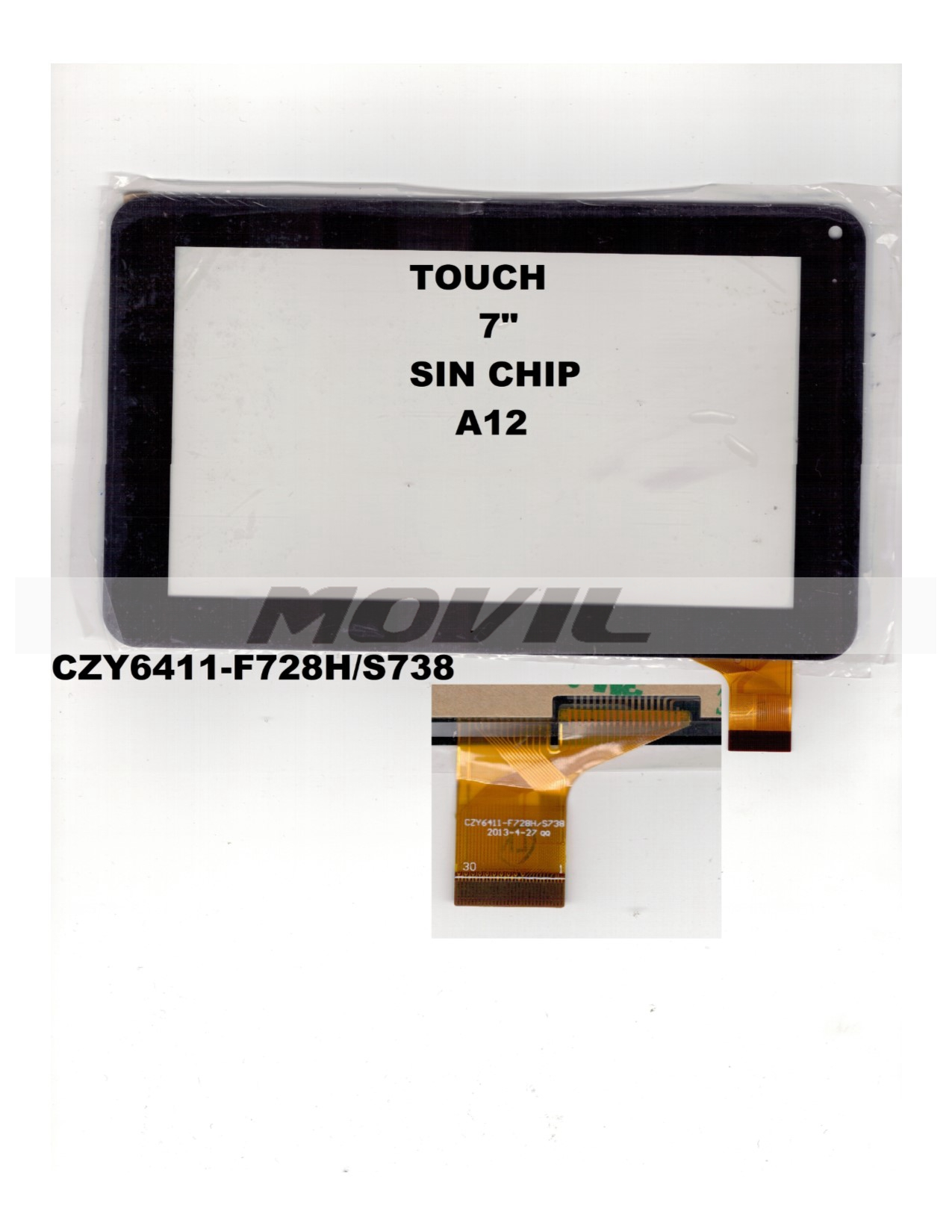 Touch tactil para tablet flex 7 inch SIN CHIP A12 CZY6411-F78HS738