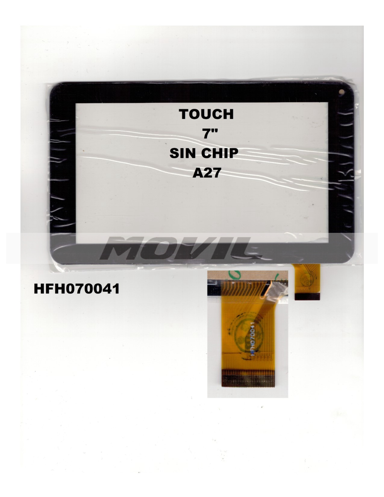Touch tactil para tablet flex 7 inch SIN CHIP A27 HFH070041