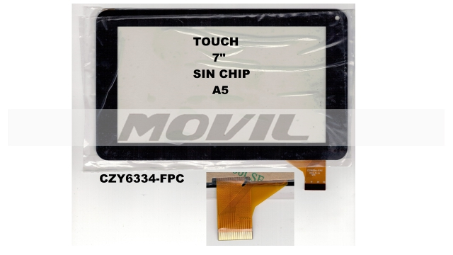 Touch tactil para tablet flex 7 inch SIN CHIP A5 CZY6334-FPC