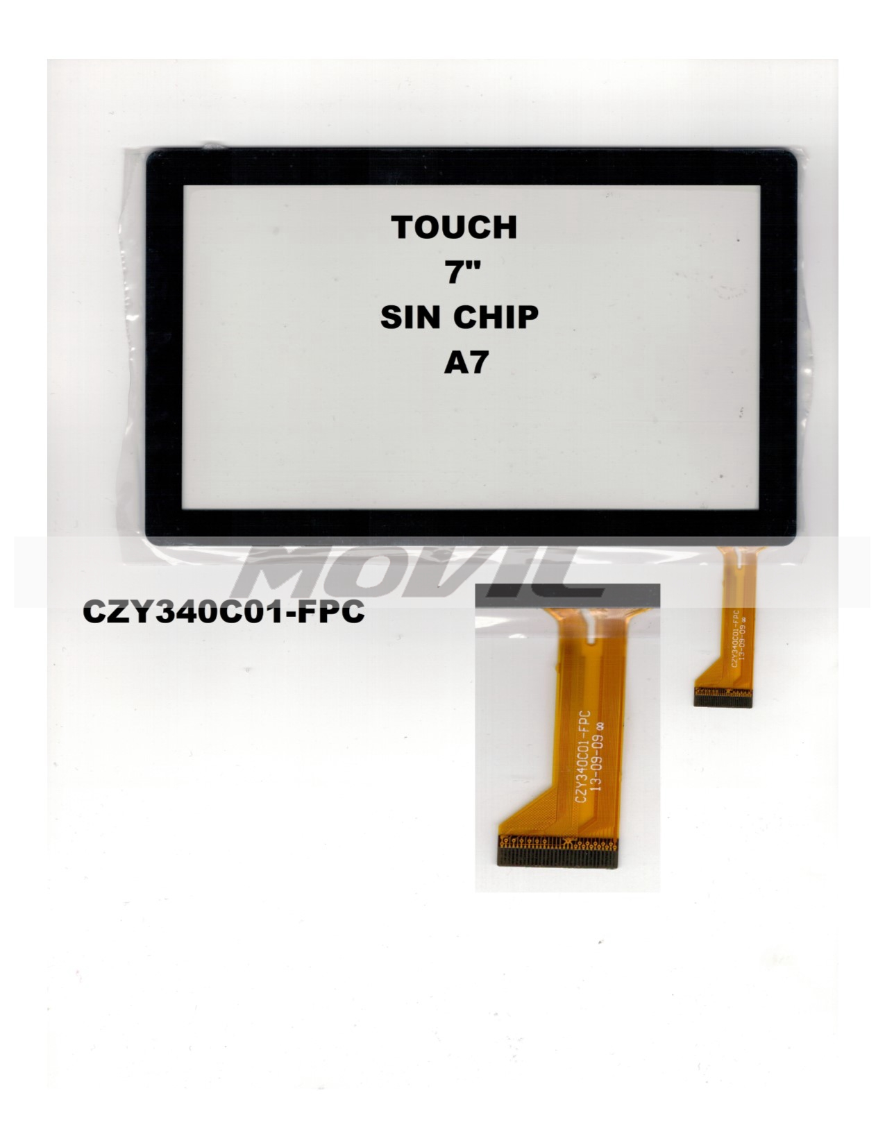 Touch tactil para tablet flex 7 inch SIN CHIP A7 CZY340C01-FPC