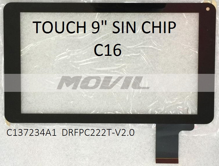 Touch tactil para tablet flex 9 inch SIN CHIP C16 C137234A1 DRFPC222T-V2.0