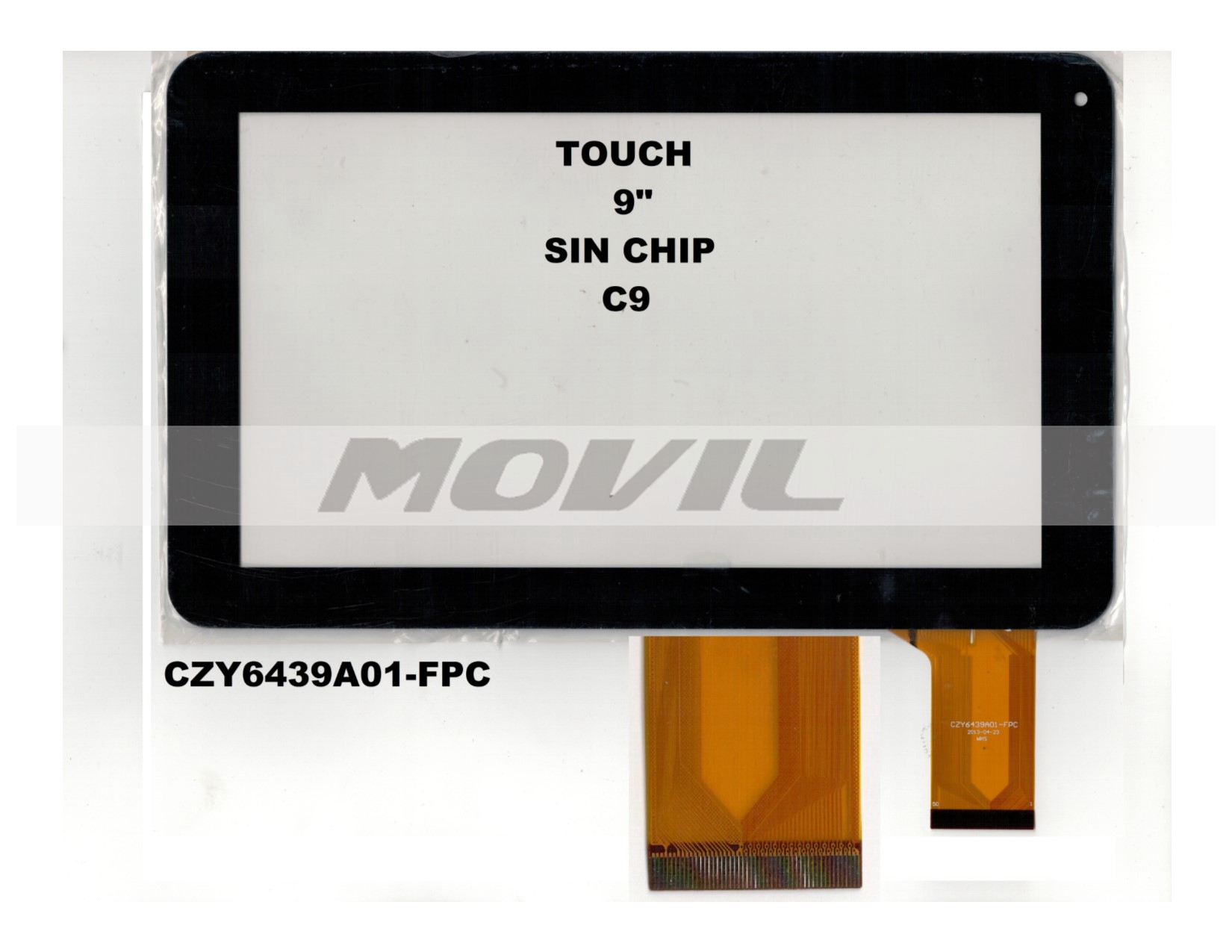Touch tactil para tablet flex 9 inch SIN CHIP C9 CZY6439A01-FPC