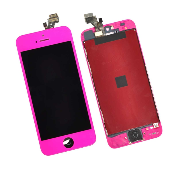 digitalizador pantalla lcd display para iphone 5 5s LCD rojo