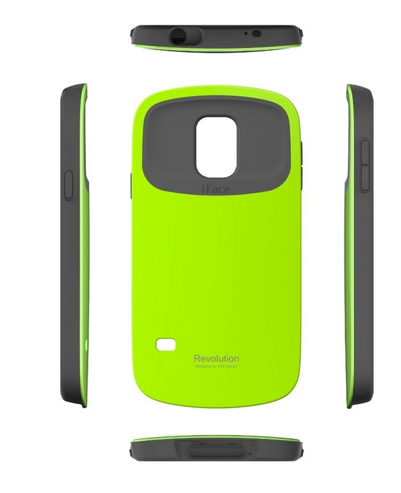 iFace Revolution Galaxy S5 Case Cover  Dual Layer Bumper Protection green