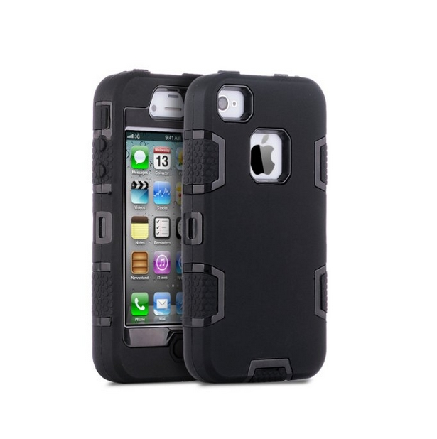 iPhone 4 Case iPhone 4S Case  Robot Guard Hybrid Rugged Triple Layer Combo Case