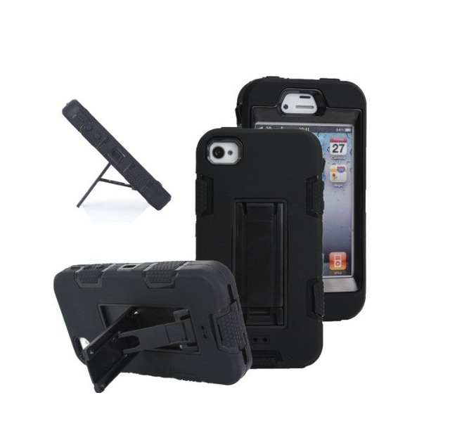 iPhone 4s case iPhone 4 case MagicSky Robot Series Hybrid Armored Case with Kickstand for Apple