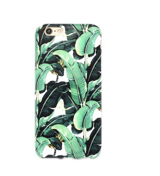 iPhone 6 Case  Whole Covered IMD TPU Case for iPhone 6 4.7 inch -Milly Banana Leaf