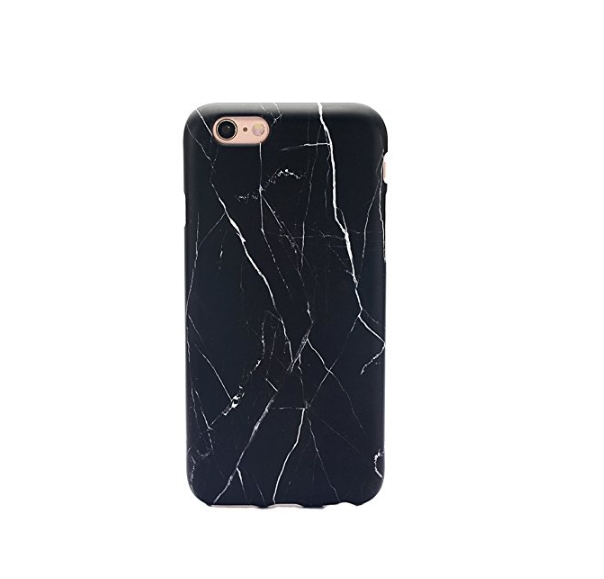 iPhone 6 Case  Whole Covered IMD TPU Case for iPhone 6 4.7 inch -black marble