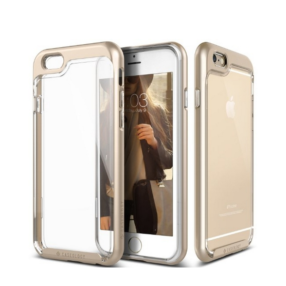 iPhone 6 Case Caseology Skyfall Series Scratch-Resistant Clear Back Cover gold