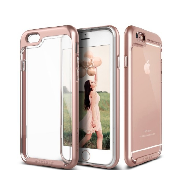 iPhone 6 Case Caseology Skyfall Series Scratch-Resistant Clear Back Cover rose gold