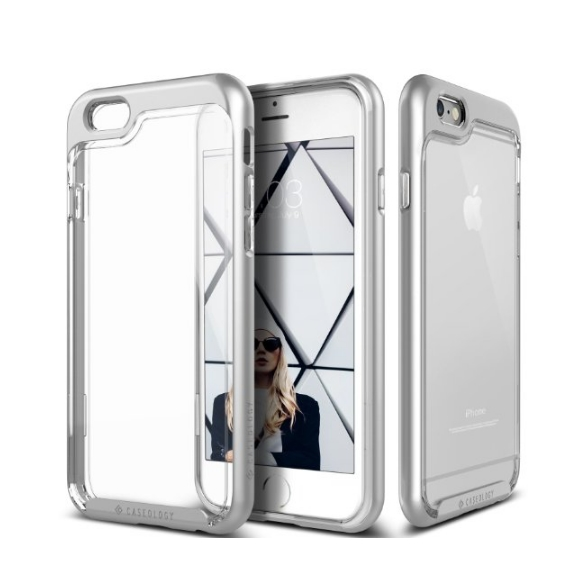 iPhone 6 Case Caseology Skyfall Series Scratch-Resistant Clear Back Cover silver