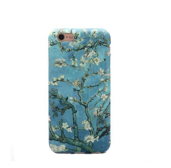 iPhone 6 Case LiangYe Whole Covered IMD TPU Case for iPhone 6 (4.7 inch) - blossomin almond tree
