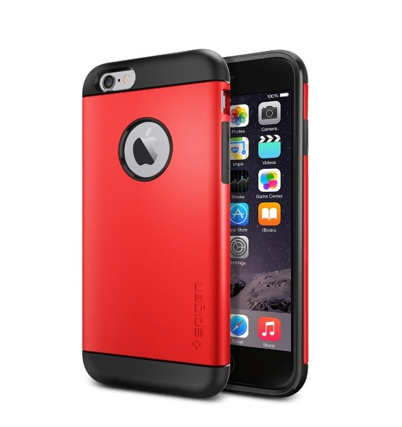 iPhone 6 Case Spigen Slim Armor AIR CUSHION electric red Slim Fit
