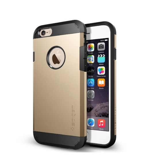 iPhone 6 Case Spigen Tough Armor  Heavy Duty  Gunmetal Dual Layer EXTREME Protection Cover champagne gold