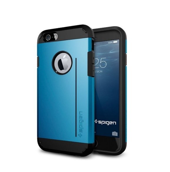 iPhone 6 Case Spigen Tough Armor  Heavy Duty  Gunmetal Dual Layer EXTREME Protection Cover electric blue