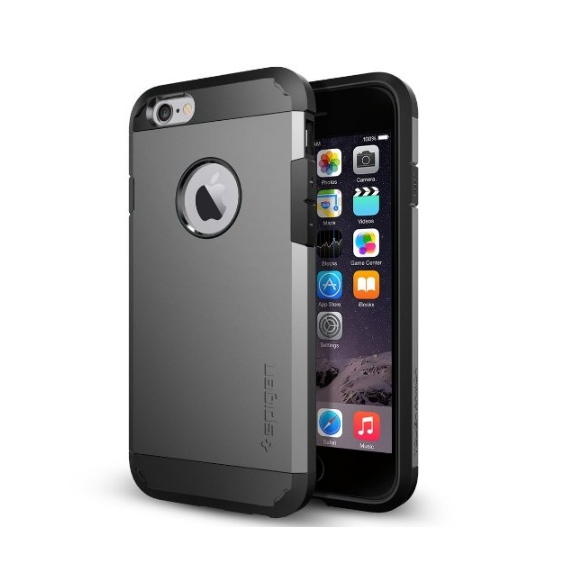 iPhone 6 Case Spigen Tough Armor  Heavy Duty  Gunmetal Dual Layer EXTREME Protection Cover
