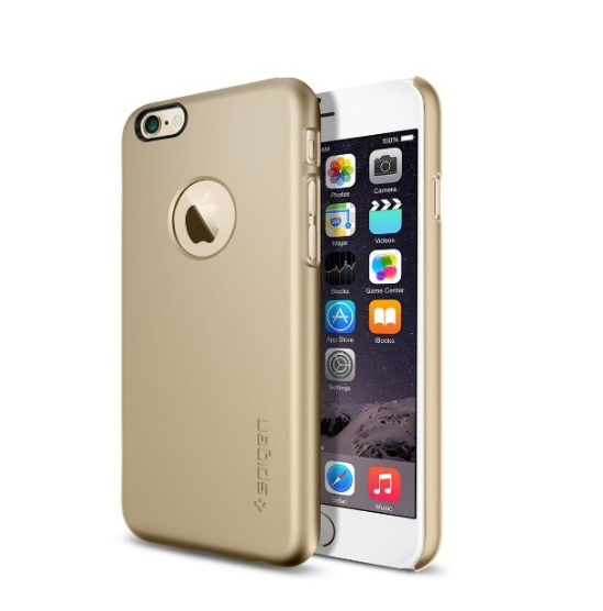 iPhone 6 Case SpigenThin Fit Exact-Fit champagne gold Premium Clear Hard Case for iPhone 6