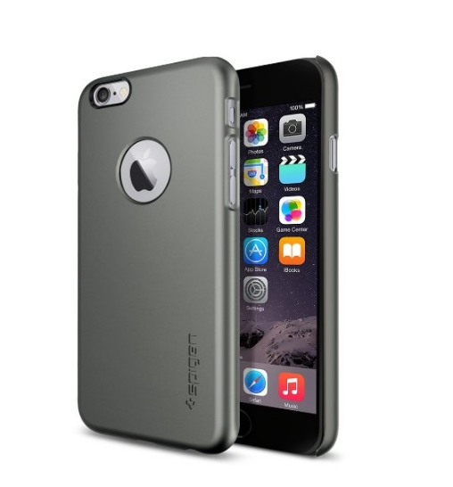 iPhone 6 Case SpigenThin Fit Exact-Fit gunmetal Premium Clear Hard Case for iPhone 6