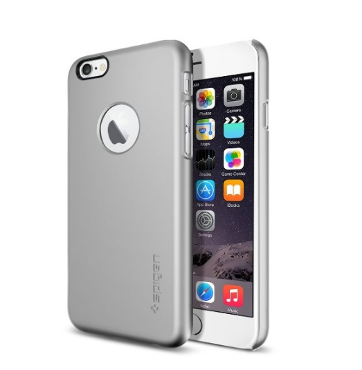 iPhone 6 Case SpigenThin Fit Exact-Fit sain silver Premium Clear Hard Case for iPhone 6