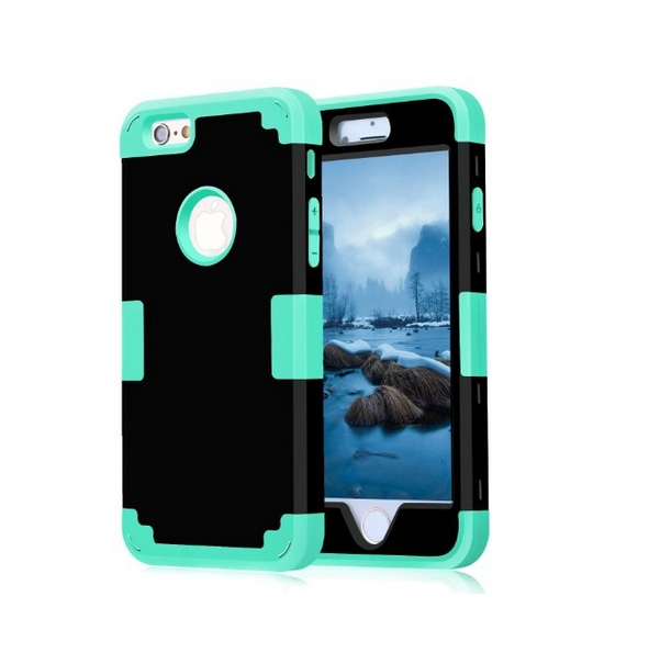 iPhone 6 Case iPhone 6s Case 2015 New Style Cambo Hybrid Shockproof black teal
