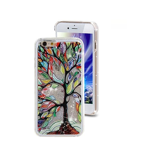 iPhone 6 Plus CaseCrazy Panda 3D Creative Liquid Glitter Design iPhone 6 Plus Liquid colorful tree