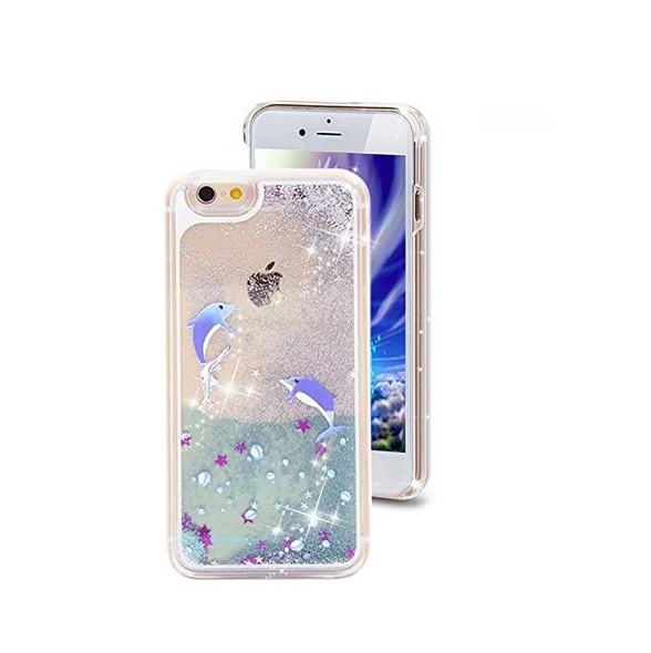 iPhone 6 Plus CaseCrazy Panda 3D Creative Liquid Glitter Design iPhone 6 Plus Liquid dophin