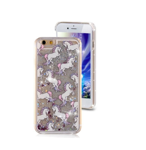 iPhone 6 Plus CaseCrazy Panda 3D Creative Liquid Glitter Design iPhone 6 Plus Liquid horses