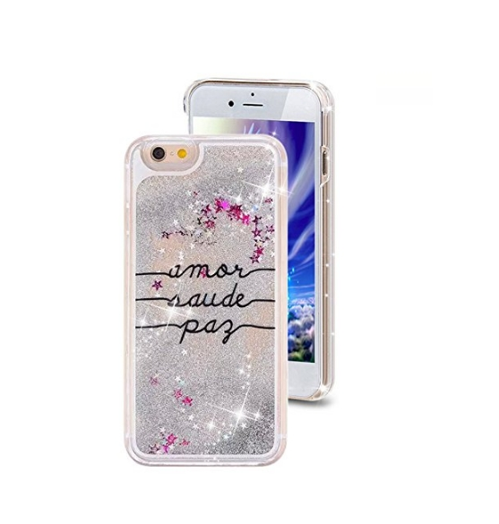 iPhone 6 Plus CaseCrazy Panda 3D Creative Liquid Glitter Design iPhone 6 Plus Liquid letters