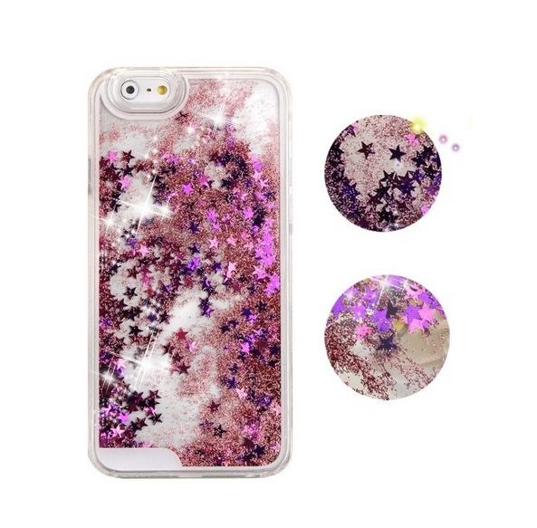 iPhone 6 Plus CaseCrazy Panda 3D Creative Liquid Glitter Design iPhone 6 Plus Liquid pink  stars