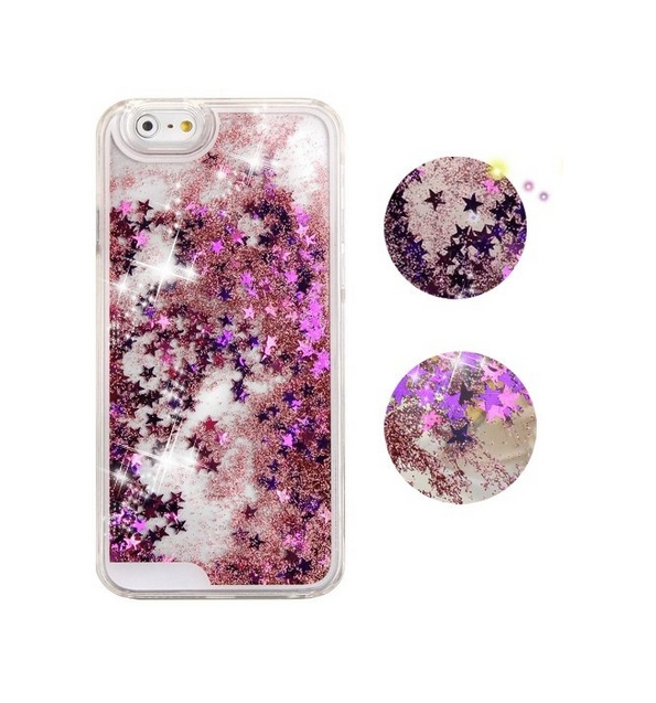 iPhone 6 Plus CaseCrazy Panda 3D Creative Liquid Glitter Design iPhone 6 Plus Liquid purple stars