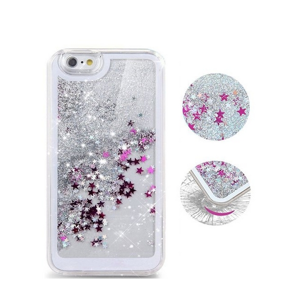 iPhone 6 Plus CaseCrazy Panda 3D Creative Liquid Glitter Design iPhone 6 Plus Liquid sliver stars