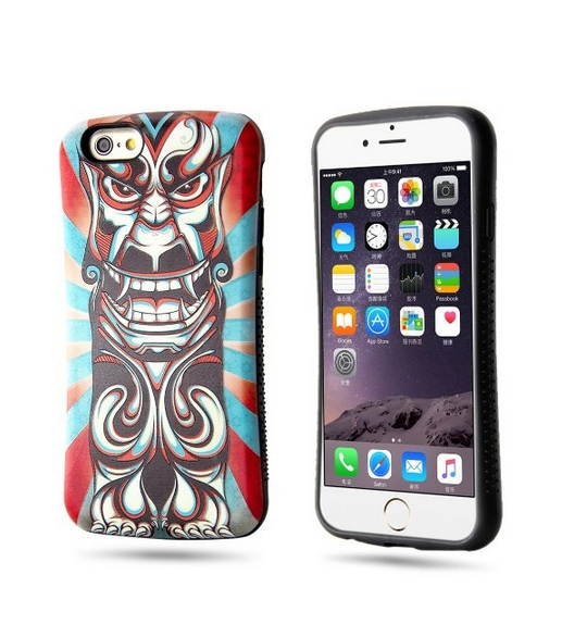iPhone 6s Case 6 Case-DAMPO High Quality Anti Slip Ultra-slim Colorful 3D Relief magic mask