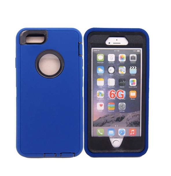 iphone 6 Case Defender Tough Armor 3 in 1 Shockproof Heavy Duty Impact Hybrid Full Body Protective Hard Case for iphone 6 blue black