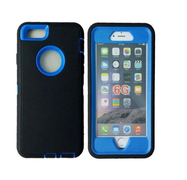 iphone 6 Case Defender Tough Armor 3 in 1 Shockproof Heavy Duty Impact Hybrid Full Body Protective Hard Case for iphone 6 blue