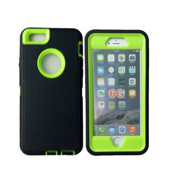 iphone 6 Case Defender Tough Armor 3 in 1 Shockproof Heavy Duty Impact Hybrid Full Body Protective Hard Case for iphone 6 green