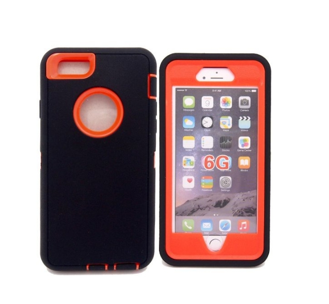 iphone 6 Case Defender Tough Armor 3 in 1 Shockproof Heavy Duty Impact Hybrid Full Body Protective Hard Case for iphone 6 orange