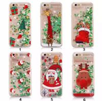 Christmas Santa Claus phone case para iPhone 7 6 6s plus Glitter Star Liquid Case Christmas